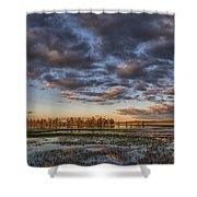 Sunrise On Yellowstone Lake Shower Curtain