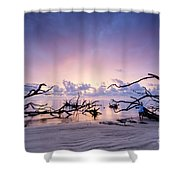 Sunrise Over Blackrock Beach Shower Curtain