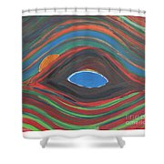 Sunrise Over Blue Ridge Mountain Lake Shower Curtain