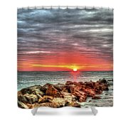 Sunrise Over Breech Inlet On Sullivan's Island Sc Shower Curtain