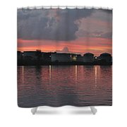 Sunrise Over Cape Fear River Shower Curtain