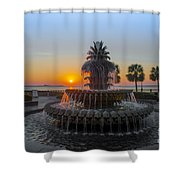 Sunrise Over Charleston Shower Curtain