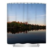 Sunrise Over Chena River Shower Curtain