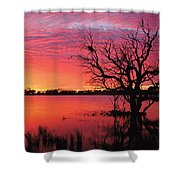 Sunrise Over Coongee Lakes Shower Curtain