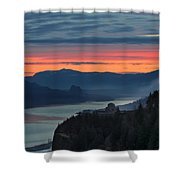 Sunrise Over Crown Point Shower Curtain