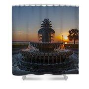 Sunrise Over Downtown Charleston  Shower Curtain