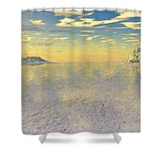 Sunrise Over Glacial Bay Shower Curtain