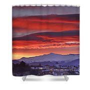 Sunrise Over Granada And The Alhambra Castle Shower Curtain