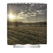 Sunrise Over Hayrolls Shower Curtain