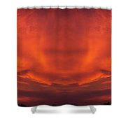 Sunrise Over Jackson Michigan Mirror Image Shower Curtain