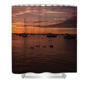 Sunrise Over Lake Michigan Shower Curtain