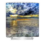 Sunset Over Lake Ontario Shower Curtain
