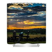Sunrise Over Little Round Top Shower Curtain