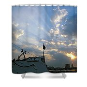 Sunrise Over Philadelphia  Shower Curtain