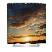 Sunrise Over Port Angeles Shower Curtain