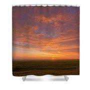 Sunrise Over Prairies Shower Curtain