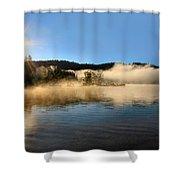 Sunrise Over Scotts Flat Lake Shower Curtain