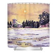 Sunrise Over St Botolph's Church Shower Curtain by Bill Holkham