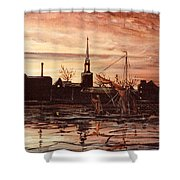 Sunrise Over St Marys Church And Rotherhithe London Shower Curtain