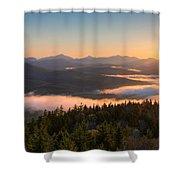 Sunrise Over The Adirondack High Peaks Shower Curtain
