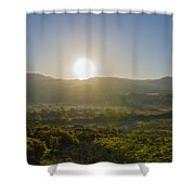 Sunrise Over The Bluestack Mountains - Donegal Ireland Shower Curtain