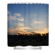 Sunrise Over The Cemetary Shower Curtain