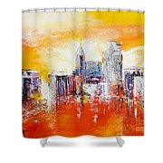 Sunrise Over The City Of Oaks Shower Curtain