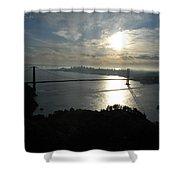 Sunrise Over The Golden Gate Shower Curtain