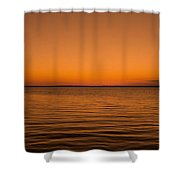 Sunrise Over The Lake Of Two Mountains - Qc Shower Curtain