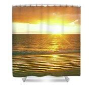 Sunrise Over The Pacific Ocean, Cabo Shower Curtain