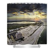Sunrise Over The Royal Palms Shower Curtain