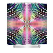 Sunrise Over The Waterfalls Fractal Shower Curtain