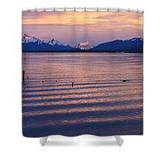Sunrise Over Ultima Esperanza Shower Curtain