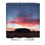 Sunrise Over Uluru Shower Curtain