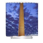 Sunrise Over Washington Monument Shower Curtain