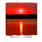 Sunrise Over Whidbey Island Shower Curtain