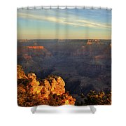 Sunrise Over Yaki Point At The Grand Canyon Shower Curtain