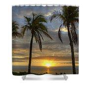 Sunrise Palms Shower Curtain