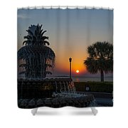 Lowcountry Pineapple Shower Curtain