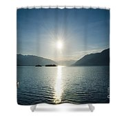 Sunrise Reflected Over An Alpine Lake Shower Curtain