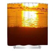 Sunrise - Reunion Island - Indian Ocean Shower Curtain by Francoise Leandre