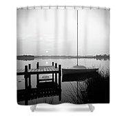 Sunrise Sail Boat Shower Curtain