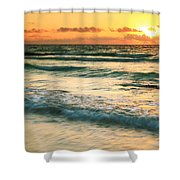 Sunrise Seascape Tulum Mexico Shower Curtain