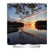 Sunrise Seat - Millinocket Lake Shower Curtain