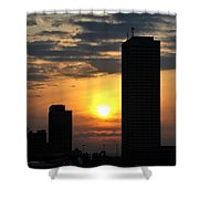 Sunrise Silhouette Buffalo Ny V2 Shower Curtain