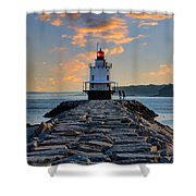 Sunrise Spring Point Ledge Shower Curtain