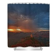 Sunrise Storm North Rim Grand Canyon Arizona Shower Curtain