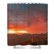 Sunrise Storm Point Imperial North Rim Grand Canyon Np Arizona Shower Curtain