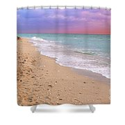 Sunrise Surf At Miami Beach  Shower Curtain