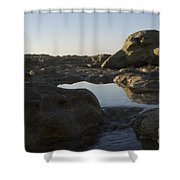Sunrise Tidal Pool View Shower Curtain